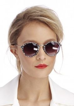Round Daisy Print Sunglasses