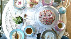 White Earl Grey & Rose Victoria Sponge, BritishLarder (butter, sugar, eggs, self-raising flour, rose water, confectioner's sugar)