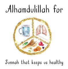 78. Alhamdulillah for sunnah that keeps us healthy. #AlhamdulillahForSeries