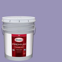 Glidden Premium 5 gal. #HDGV46 Lavender Flowers Flat Interior Paint with Primer