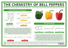 The Chemistry of Bell Peppers – Colour and Aroma – Compound Interest Chemistry Classroom, Green Chemistry, Chemistry Lessons, Teaching Chemistry, Science Chemistry, Science Facts, Food Science, Organic Chemistry, Science Week
