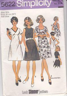 1970's Sewing Pattern  Simplicity 5622 Dress by jennylouvintage