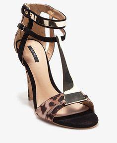 Jen Tong: Metal T-Strap Leopard Print Sandals | FOREVER21 - 2031557348 #Lockerz
