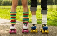 Roller skates and Leg Warmers!