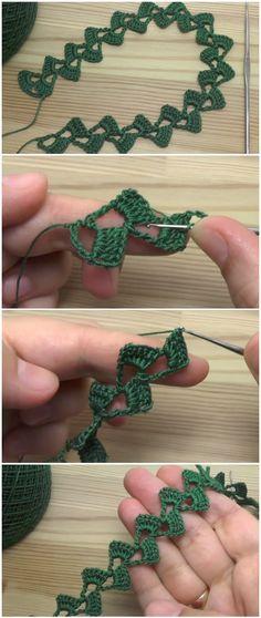 Crochet Easy Tape Lace Learn how to crochet easy ribbon lace tape. Crochet Cord, Crochet Lace, Free Crochet, Lace Knitting, Knitting Patterns, Crochet Patterns, Crochet Ideas, Crochet Tutorials, Knitting Ideas