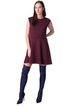 d13ad6ad66a HOPE COLLECTION Skater Dress Size L Textured Unlined Made in Italy  fashion   clothing  shoes  accessories  womensclothing  dresses (ebay link)