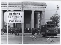 east german border | Along the East German Border With West Berlin 1961
