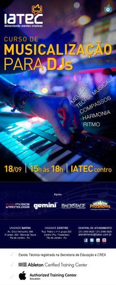 Divulgação para o curso de Musicalização para DJs