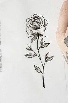 Made by Stella Luo Tattoo Artists in Toronto Canada - Tattoos - Tatouage Mini Tattoos, Small Tattoos, Cool Tattoos, Tatoos, Rose Drawing Tattoo, Tattoo Drawings, Tatoo Rose, Little Rose Tattoos, Black Rose Tattoos