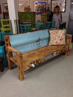 77 tailgate bench by ROCKIN A FURNITURE