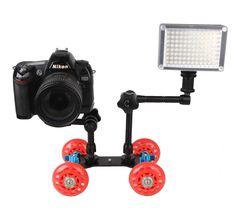 >> Click to Buy << Mini Desktop Mute Pulley Drift Car Flexible 4-wheel Rail Rolling Track Slider Skater Table Dolly Car For DSLR Camera Camcorder #Affiliate