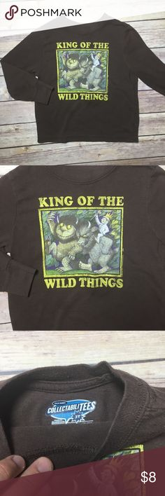 'Wild Things' Graphic Tee 'Wild Things' long sleeve Graphic Tee, brand is Old Navy. Size 3T, GUC. Old Navy Shirts & Tops Tees - Long Sleeve