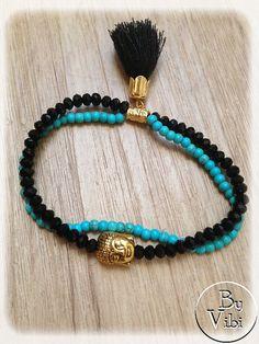 Bracelet cristal et turquoise par ByVibi sur Etsy