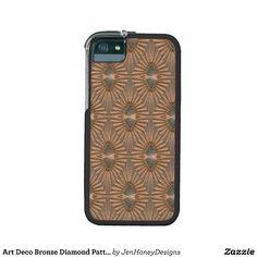 Art Deco Bronze Diamond Pattern iPhone 5/5S Cases