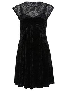 Black lace and velvet dress