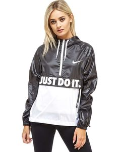 Nike Just Do It Packable Jacket - Shop online for Nike Just Do It Packable Jacket with JD Sports, the UK's leading sports fashion retailer. Jd Sports, Nylons, Streetwear, Holographic Fashion, Nike Running Jacket, Packable Jacket, Tracksuit Bottoms, Jackets For Women, Sparkle