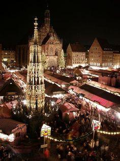The Romantic Road - Nuremberg, Germany at Christmas.. definitely on the bucket list!