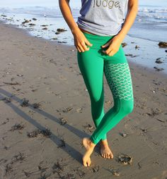 mermaid II yoga leggings by purushapeople on Etsy, $74.00- why do these have to cost so much!