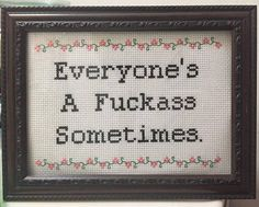 Subversive Cross Stitch Pattern Everyone's A by CrossStitchedSass #crossstitch…