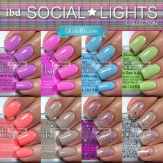 ibd Just Gel Polish – Social Lights Collection Swatches