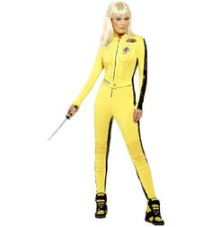 Ladies Kill Bill Fancy Dress Costume That woman deserves her revenge and we deserve to die - Vol 1. Assassinate the party competition in this aweome Kill Bill costume. With this jumpsuit and sword, youll be sure to pack a pucnh on the da http://www.comparestoreprices.co.uk/t-shirts/ladies-kill-bill-fancy-dress-costume.asp