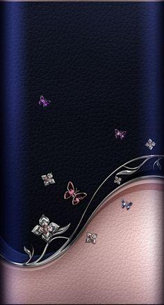 Royal Wallpaper, Diamond Wallpaper, Rose Gold Wallpaper, Angel Wallpaper, Phone Wallpaper Design, Flower Phone Wallpaper, Pink Wallpaper Iphone, Butterfly Wallpaper, Dark Wallpaper