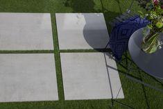 Terrasegels met betonlook zijn dé nieuwste trend als vloertegel en / of terrastegel in plaatst van natuurlijk beton. Keramische tuintegels hebben het voordeel onderhoudsvriendelijk, kras- en vlekbestendig & maat en kleurvast te zijn.  Keramische terrastegels kunnen worden geplaatst op (verstelbare) tegeldragers, op grind, op gras of verlijmd met tegellijm. #terrastegels #keramische terrastegels #brukomtegel Cement, Contemporary, Garden, Home Decor, Homemade Home Decor, Garten, Gardening, Interior Design, Home Interiors