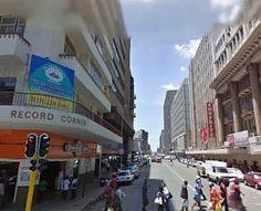 Pritchard Street, Johannesburg. Record Corner used to be Polliack's Corner.