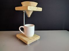 Simple Pour Over Coffee Stand: 6 Steps (with Pictures) Coffee Pour Over Stand, Coffee Stands, Coffee Cafe, Coffee Set, Café Chocolate, Woodworking Projects, Diy Projects, Tea Station, How To Order Coffee