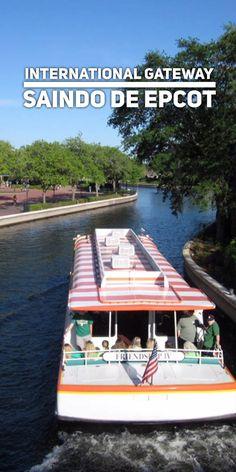 O charme de International Gateway, uma segunda entrada de Epcot que leva ao Boardwalk e outras atrações e hotéis do Walt Disney World Resort