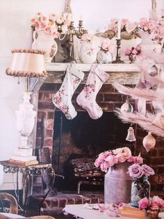 Floral stockings from Rachel Ashwell's Couture Prairie.