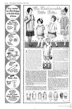 July 1914 children's clothes - The Woman's Magazine - Google Books