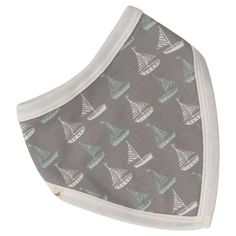 Pigeon Seaside Collection Boat Print Bib - reversible