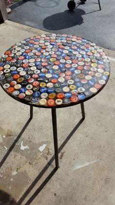 """20""""diameter x 26""""H beer cap table"""