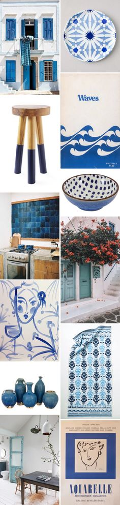color story: mediterranean blue.