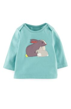 Mini Boden Appliqué Tee (Baby Girls) available at #Nordstrom