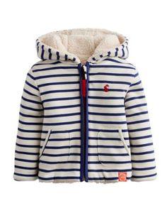 Joules Baby Reversible Sweatshirt, Midnight Blue Stripe.