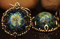 Альтаир - тёмно-синий,солнце,колье,солнцеворот,серьги,украшение,Украшение ручной работы