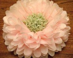 Set de decoración de la boda 3 / tejido gigante flor de papel pom poms de /birthday 1 en 2 partes/papel flores/la decoración casera / de la boda Centro de mesa / anni