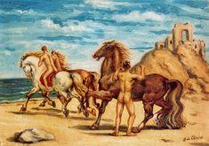 Caballos y jinetes. 1933 De Chirico