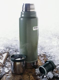 The Stanley Classic Thermos has been keeping coffee hot for 100 years. It's 34% off right now, too. Great for road trips & camping.