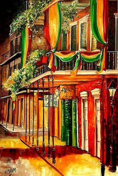 A Balcony in the French Quarter - Artist Diane Millsap