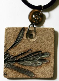 Natural+Rustic+Stoneware+Pendant+Lavender+by+NorthStarPottery,+$27.00