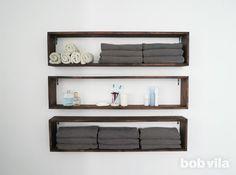 DIY Wall Shelves - Bathroom Storage