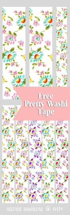 Free Floral Digital Washi Tape! - Free Pretty Things For You