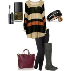 Great look for fall Winter Dress Outfits, Casual Dress Outfits, Cute Outfits, Diva Fashion, Womens Fashion, Boating Outfit, Urban Street Style, Dress And Heels, Types Of Fashion Styles