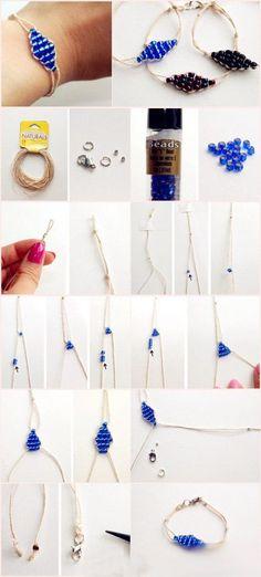 Tutorial braccialetto spago e perline