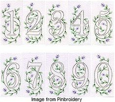 New number patterns at Pinbroidery