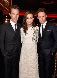 Benedict Cumberbatch, Keira Knightley and Eddie Redmayne: Backstage at the 18th Annual Hollywood Film Awards