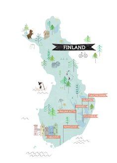 illustration map Finland Cracco